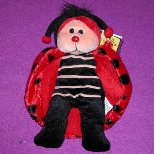 BEANIE KIDS - DOTS THE LADYBIRD BEAR