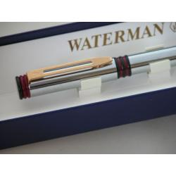 Waterman FORUM Fountain Pen in Silver with Red Rings