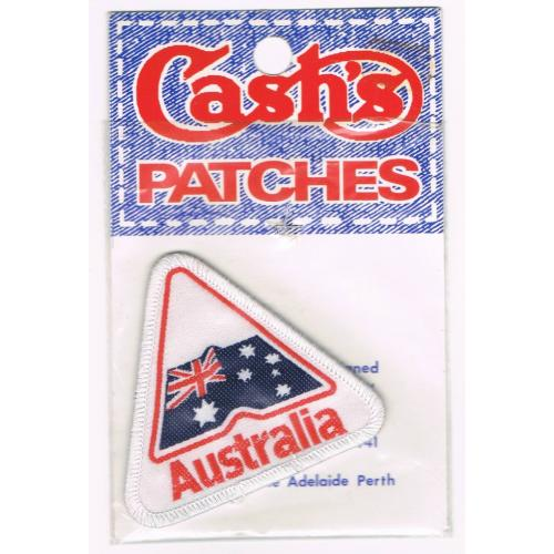 Vintage 1970s Cash's Patches - Australia Flag Souvenir Patch - UNUSED in Packet