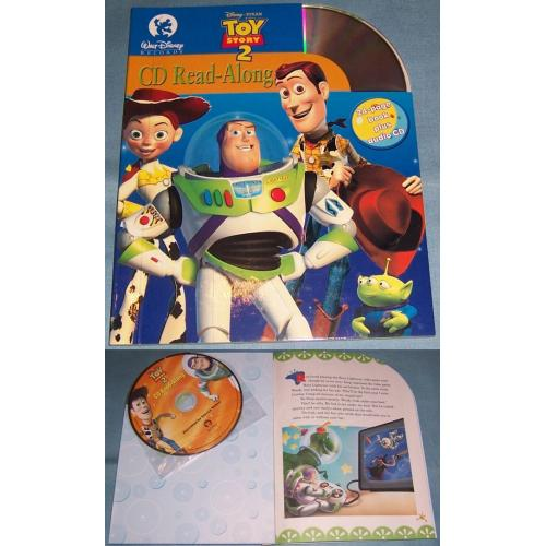Disney Pixar TOY STORY 2 - CD and Read Along Book - NEW
