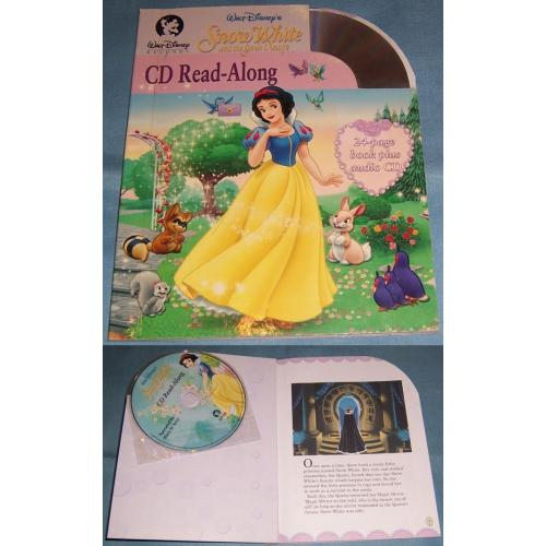 Disney SNOW WHITE and the SEVEN DWARFS CD and Read Along Book - NEW