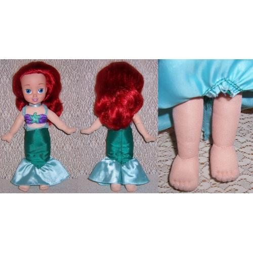 ARIEL Little Mermaid Soft Body DOLL with Two Right FEET - Vinyl Face