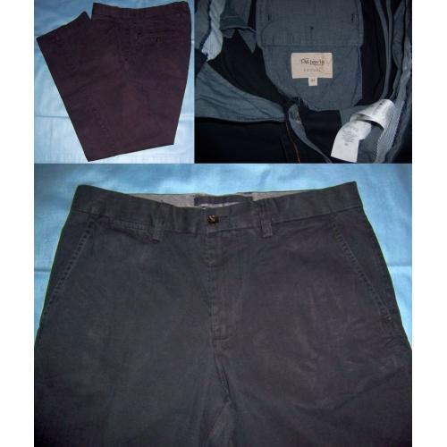 T M LEWIN CASUAL BLACK Cotton PANTS - Mens Teens Size 32S - 32 S
