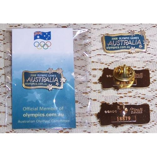 2008 Olympic Games AUSTRALIA Pin / Badge - Trofe Australia - NEW ON CARD
