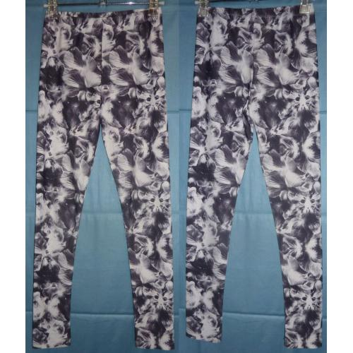 Witchery 8 Fourteen DARK GREY / WHITE STRETCH LEGGINGS - Girls Size 10
