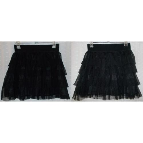 Pink Sugar Brand BLACK 4 TIER NET Mini SKIRT - Lined - Girls Size 10