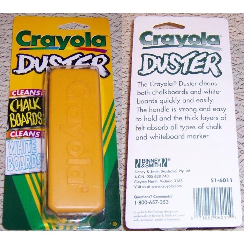 CRAYOLA DUSTER - Cleans Whiteboards and Chalkboards - NEW in Pack
