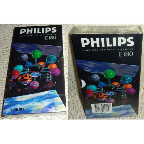 Philips E180 E 180 BLANK VHS VIDEO TAPE - 3 Hours - NEW / SEALED