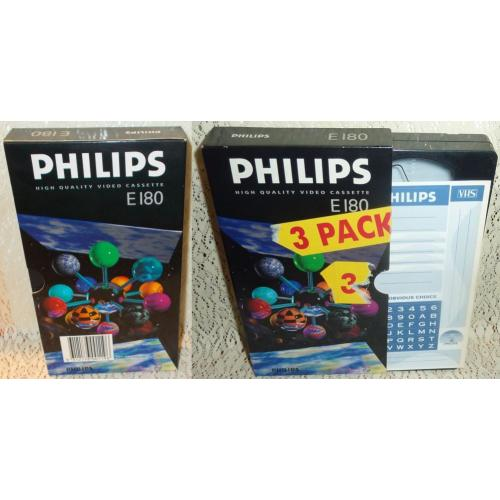 Philips E180 E 180 BLANK VHS VIDEO TAPE - 3 Hours - NEW / UNSEALED