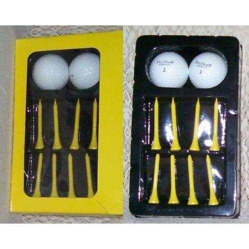GOLF KIT includes 2 Wilson ProStaff Golf Balls and 8 Tees - NEW IN BOX