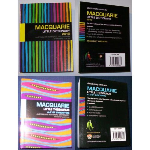 2010 Macquarie LITTLE DICTIONARY and 2010 Macquarie LITTLE THESAURUS - NEW
