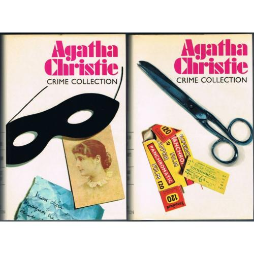AGATHA CHRISTIE CRIME COLLECTION x 2 - HC DJ Reprinted 1979 - Titles in Listing