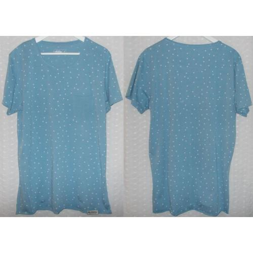 The Academy Brand Short Sleeve COTTON TOP - Pale Blue - Mens Teens Size M