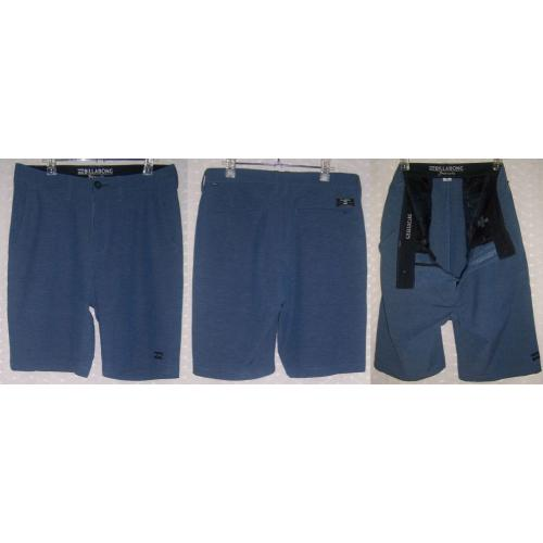 BILLABONG Crossfire Submersibles Stretch BLUE SHORTS - Mens Teens Size 30