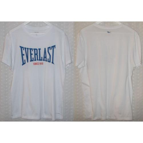 EVERLAST Everdri Short Sleeve WHITE COTTON TOP - Mens Teens Size M