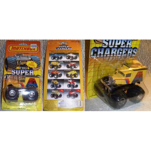 1987 MATCHBOX Diecast ' THE SUPER CHARGERS ' - SC9 So High 4x4 Monster Truck - Mint On Card