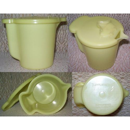 Vintage TUPPERWARE CREAM / MILK JUG - Yellow
