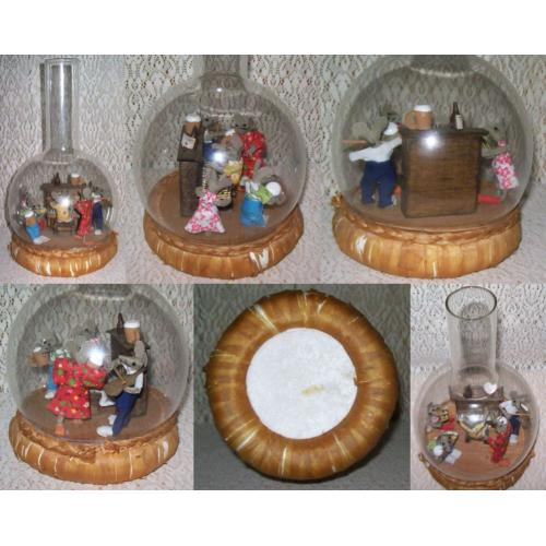 Vintage Curiosity - MOUSE or RAT MUSICIANS Singalong in GLASS BOTTLE