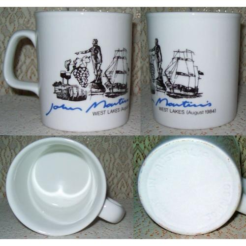 Vintage JOHN MARTIN'S SOUVENIR COFFEE MUG 1984 - Johnson Australia - NEW / UNUSED