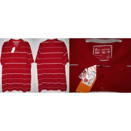 Target Mr Big COTTON Polo SHIRT TOP - Colour: CHILLI - Mens Size 3XL / 117 - NWT