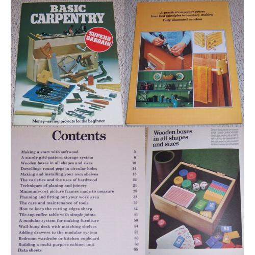 Vintage 1970s BASIC CARPENTRY Book - Money Saving Projects for the Beginner