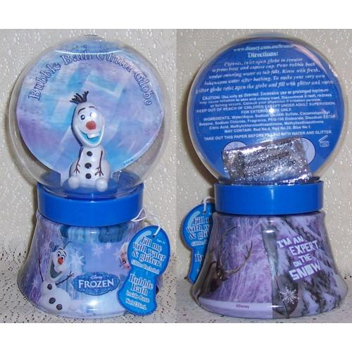 Disney FROZEN BUBBLE BATH GLITTER GLOBE - OLAF Character - NEW / Sealed