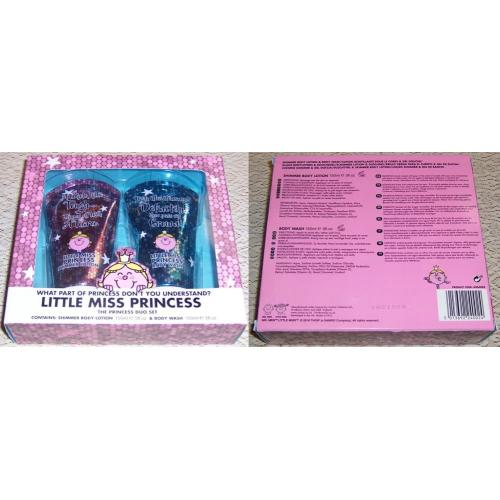 Mr Men Little Miss LITTLE MISS PRINCESS Toiletries DUO SET - Shimmer Body Lotion and Body Wash - NEW IN BOX