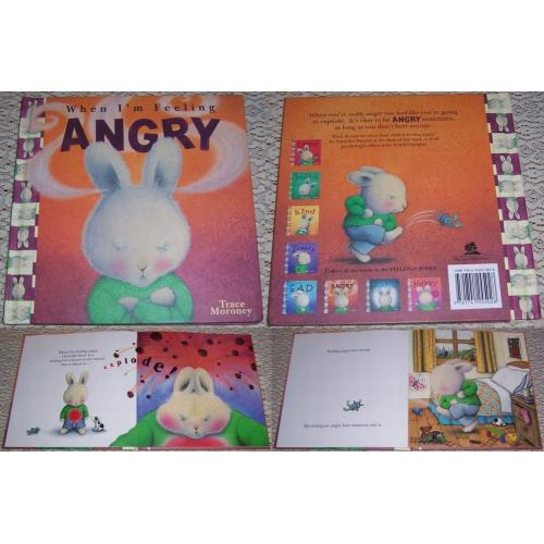 2005 When I'm Feeling ANGRY - Trace Moroney - Hard Cover BOOK - AS NEW