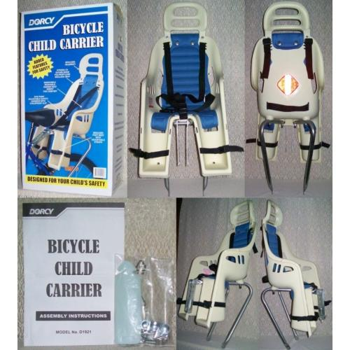 DORCY BICYCLE CHILD CARRIER Model D1921 - Bike Child Seat - Includes Instructions and Original Box