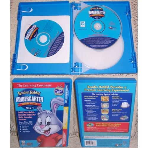 2006 The Learning Company READER RABBIT Kindergarten Learning System - Ages 4 - 6 / 3 CDs PC Windows / Macintosh