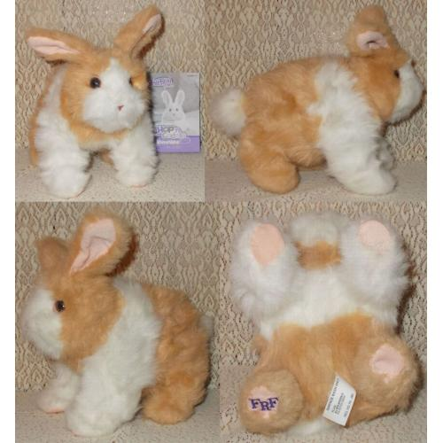 Hasbro FurReal Friends Hop n Cuddle Tan BUNNY Rabbit Toy - with Instruction/Care Guide Booklet