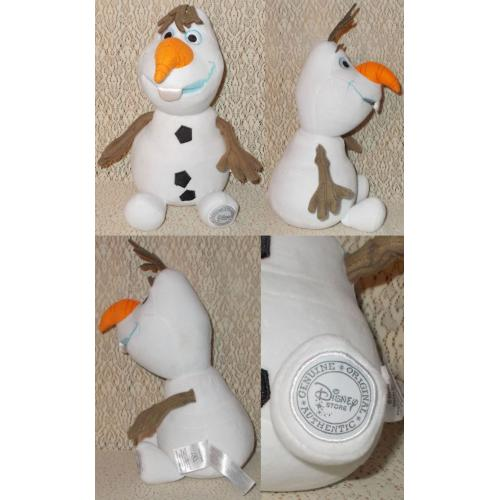 Disney Store OLAF from Frozen PLUSH SOFT TOY - 31cm Sitting - AS NEW