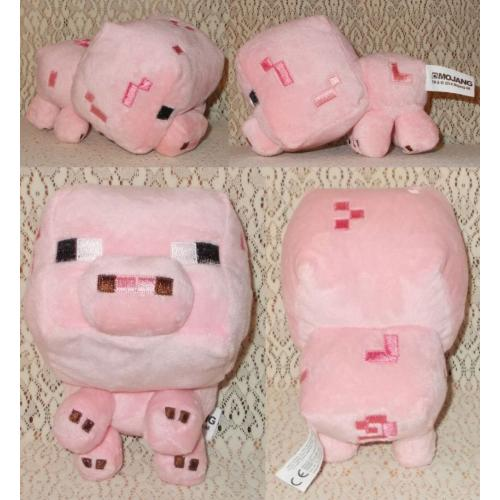 Minecraft Mojang Pink BABY PIG © 2014 Plush Soft Toy - AS NEW