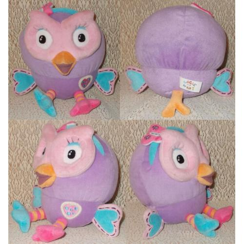 HOOTABELLE from Giggle and Hoot Plush Soft Toy - Height 18cm Sitting