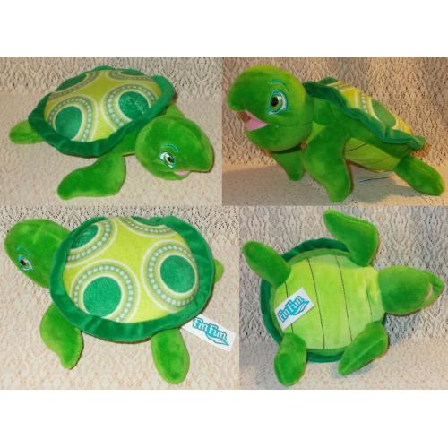 Fin Fun Cooper the TURTLE Soft Plush Toy - Length: 20cm - AS NEW