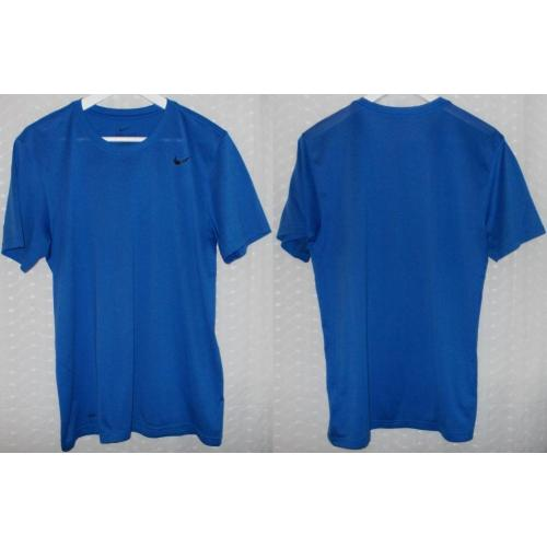 NIKE Dri Fit Royal Blue Short Sleeve TOP - Mens Teens Size M