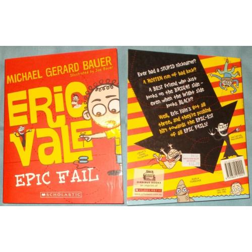 ERIC VALE EPIC FAIL - Michael Gerard Bauer - Paperback Book - NEW