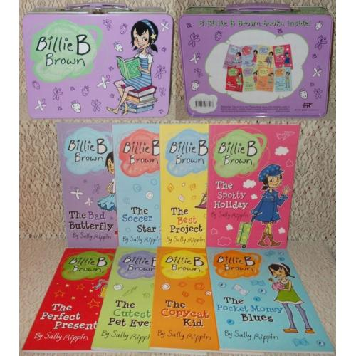 Billie B Brown x 8 Soft Cover Books by Sally Rippin In Metal Carry Case - NEW