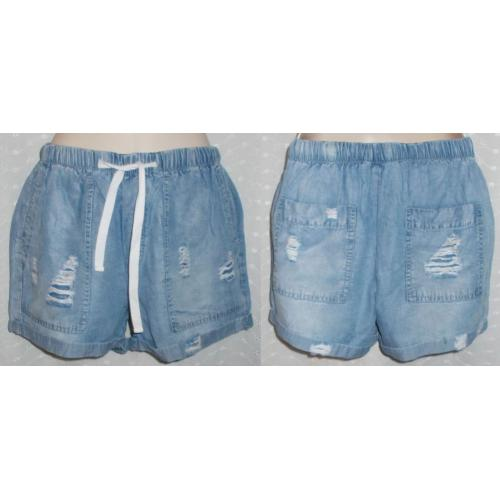 Supre Distressed MID BLUE Lyocell SHORTS - Womens Teens Size 4