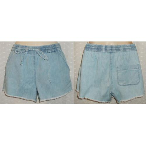 SPORTSGIRL Casual COTTON SHORTS - Pale Blue Denim - Womens Size 6