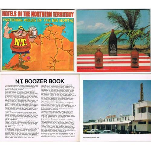 1982 HOTELS OF THE NORTHERN TERRITORY - NT BOOZER BOOK