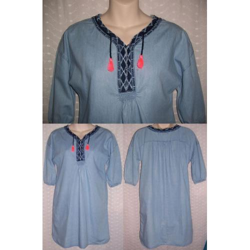 free by Cotton On Pale Blue LONG TOP or MINI DRESS - Teen Girls Size 12