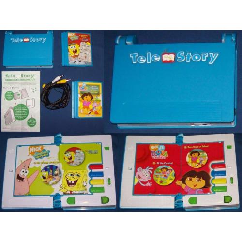 TeleStory Interactive Storybook System   SPONGEBOB Squarepants and DORA Cartridges   Operating Instructions