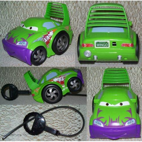 Disney Pixar CARS WINGO ZIP PULL WHEELIES Friction RIP STICK RACER