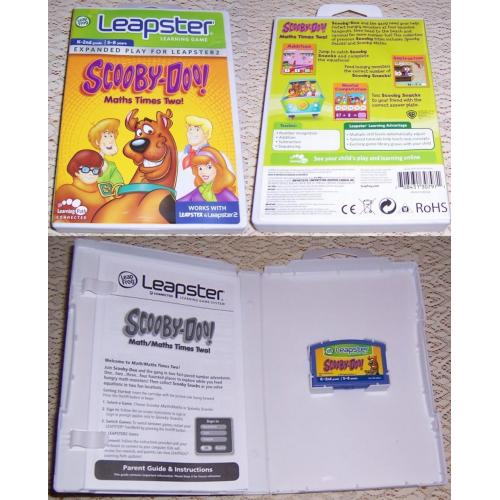 LeapFrog Leapster Learning Game SCOOBY-DOO - Maths Times Two! - Works with Leapster & Leapster2
