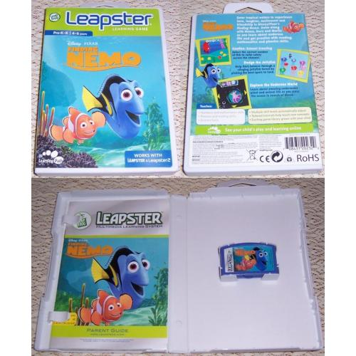 LeapFrog Leapster Learning Game FINDING NEMO - Works with Leapster & Leapster2