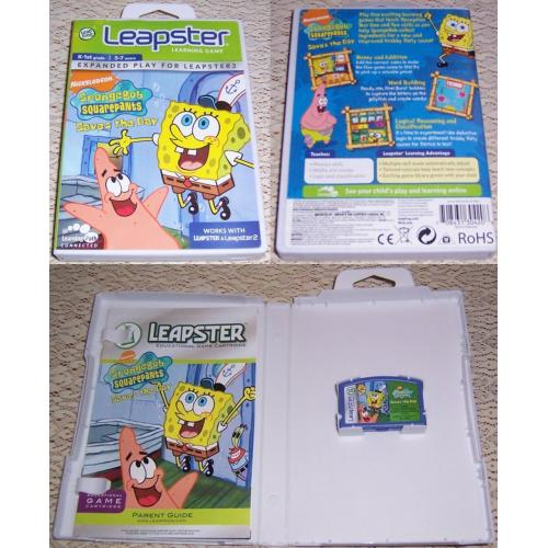 LeapFrog Leapster Learning Game SPONGEBOB SQUAREPANTS Saves the Day - Works with Leapster & Leapster2