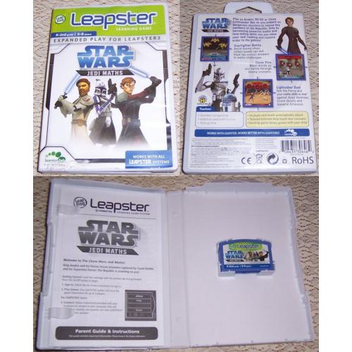 LeapFrog Leapster Learning Game STAR WARS Jedi Maths - Works with All Leapster Systems