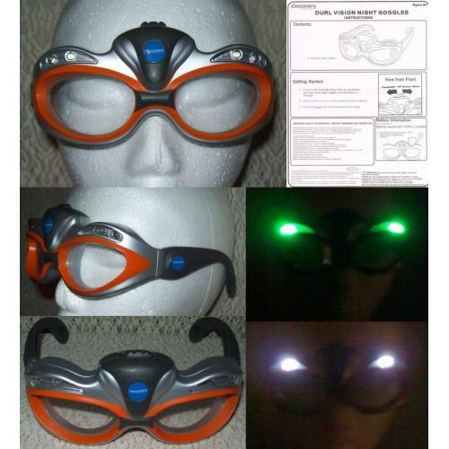 DISCOVERY CHANNEL 2008 Jakks NIGHT VISION GOGGLES with Green and Clear LED Lights   Instruction Sheet