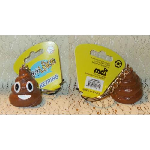 Koolface KEYRING Emojiface SMILING POO - NEW with Tag